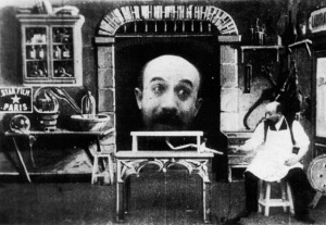 Georges Melies The Man With the Head in the Cabinet L'Homme à la tête de Caoutchouc
