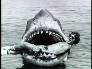 Jaws Bruce the shark and Steven Spielberg